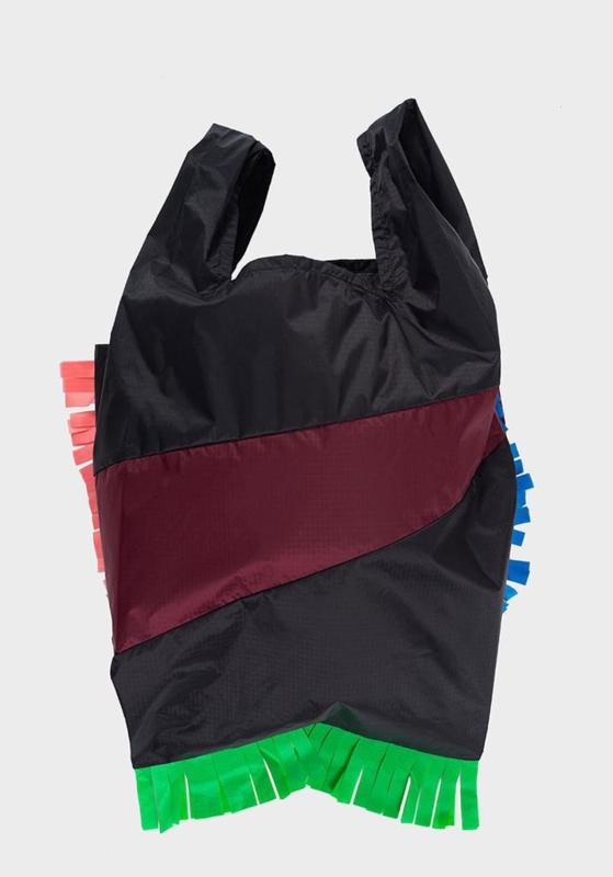 Shopping Bag Fringe Party Burgundy - L