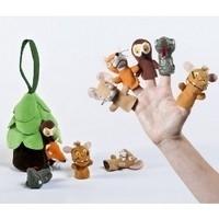 Gruffalo en vriendjes, vingerpopjes in boom