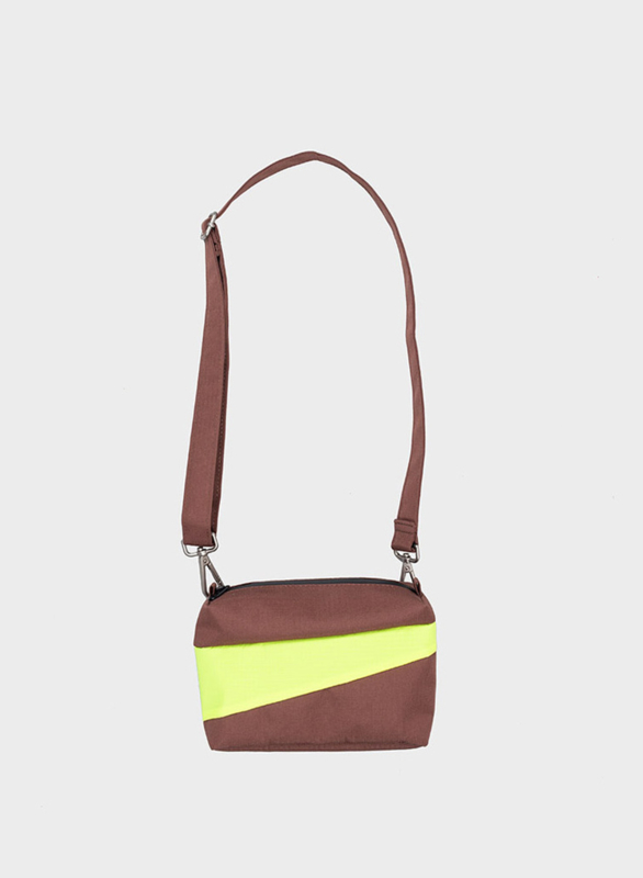 Bum Bag Brown & Fluo Yellow - S