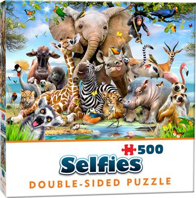 Puzzel tweezijdig wilde dieren 500 st 10-12