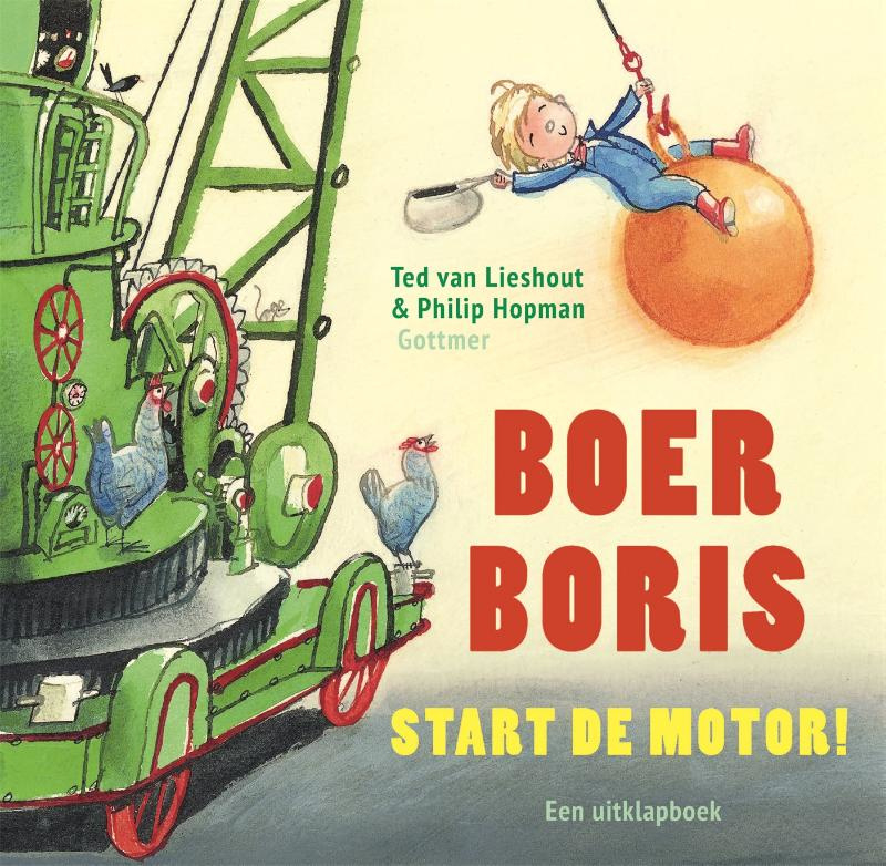 Boer Boris start de motor kartonboek
