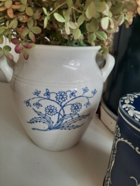 Grote Zweedse wit-blauwe pot Gustafsberg