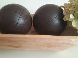 Zware hardhouten ballen