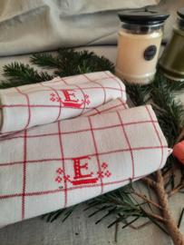 Zweedse theedoeken rood-wit