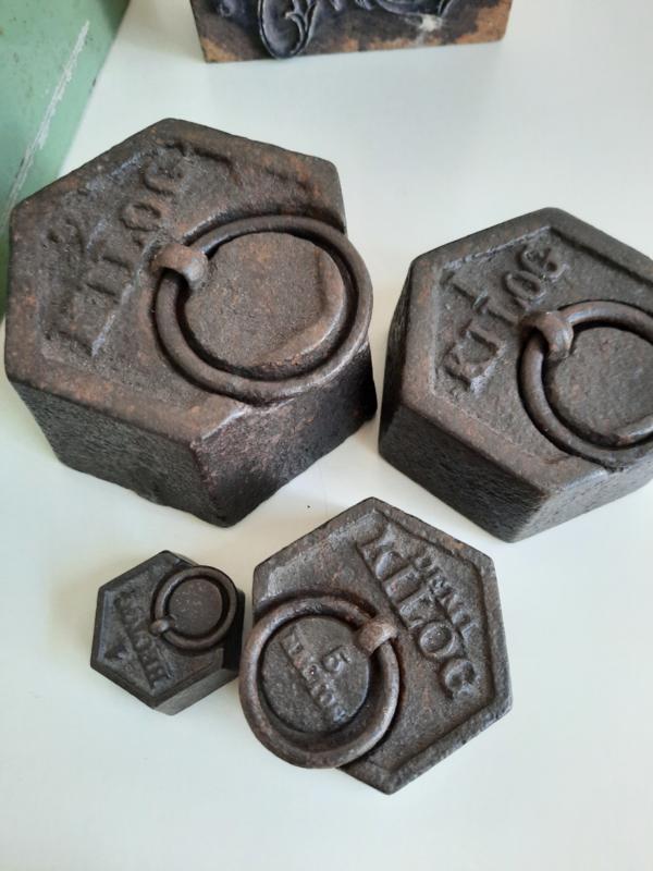 Set van 4 gewichten