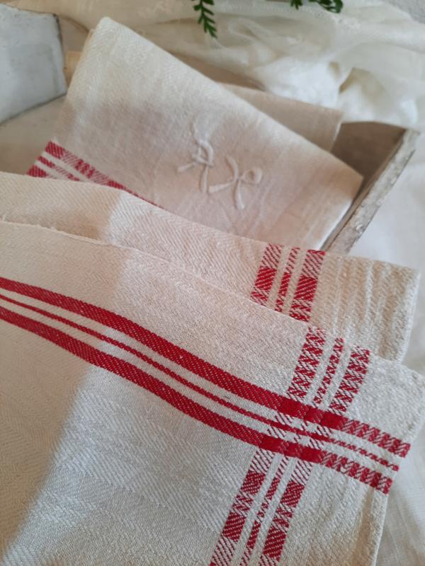 Zweedse keukendoeken rood geblokte rand