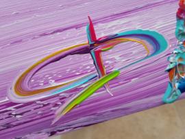 Purple Sea - 160 x 70 x 4,5 - schilderij met AS