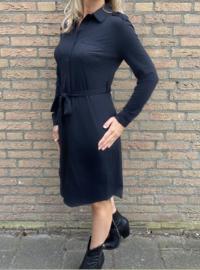 Travelstof Blouse jurk zwart