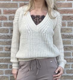 Sweater V-hals Azzuro beige