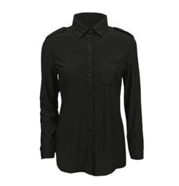 Travel blouse zwart
