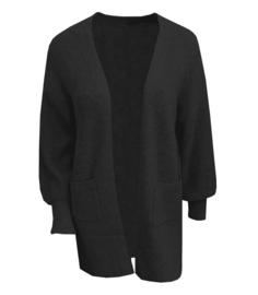 Vest fijn gebreid zwart