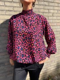 Top Luipaard print roze