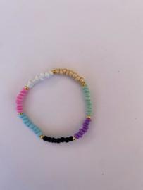 Rocailles kralen kleuren armband