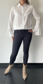 Blouse wit met flair mouw