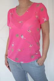 T-shirt Flamingo roze