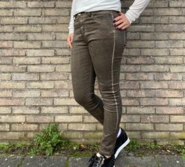 Jeans met knopen army