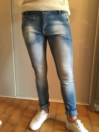 Skinny jeans damaged color