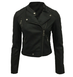 Jacket Faux leather zwart
