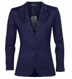 Blazer travel stof Angelle Milan blauw
