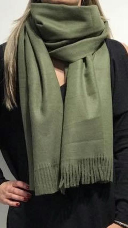 Sjaal Basic Virgin wool Groen