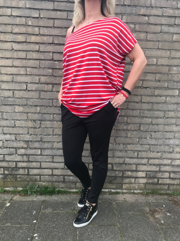 Shirt Rood-Wit gestreept