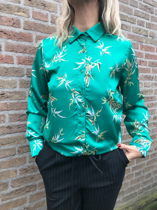 Blouse print groen Rebelz Collection