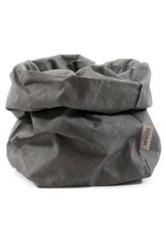 Paper bag donker grijs medium