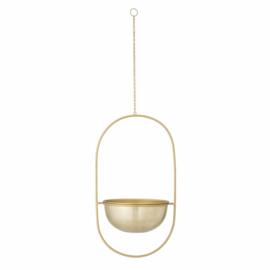 Hanging flowerpot gold metal