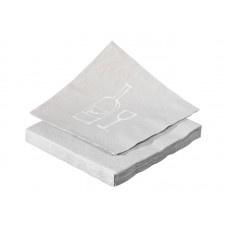 Servet Wijnglas licht grijs/wit