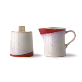 milk jug & sugar pot: frost