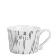 Mug Small Stripes & Coffee in Black