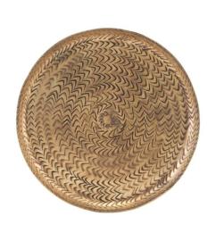 Dienblad rattan antique brass