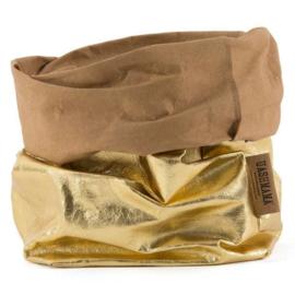 Paper bag metallic goud piccolo