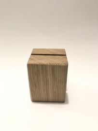 Eikenhouten houder blokje  S
