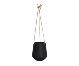 Hanging pot skittle black L