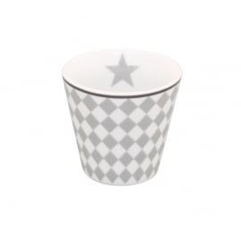 Espresso mug light grey harlekin
