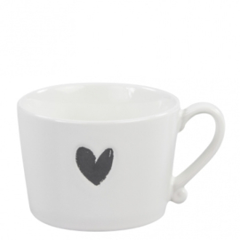 Cups & CoMug White/Heart in Black