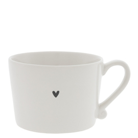 Cup White/little heart in Black