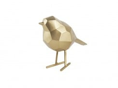 Statue bird gold S