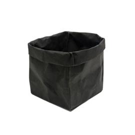 Paper bag zwart medium