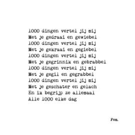 1000 dingen vertel jij mij