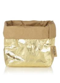 Paper bag metallic goud medium