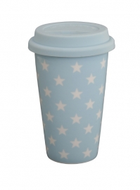 Travel mug, blue star