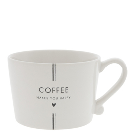 Cup White/COFFEE maken you happy