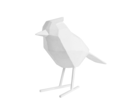 Statue bird white L