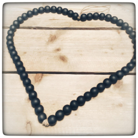 Zwart kralen hart