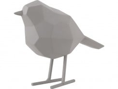 Statue bird warm grey S
