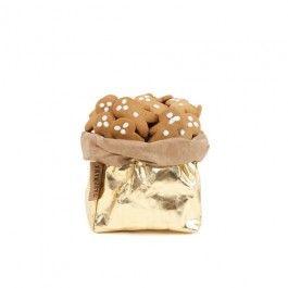 Paper bag metallic goud extra small