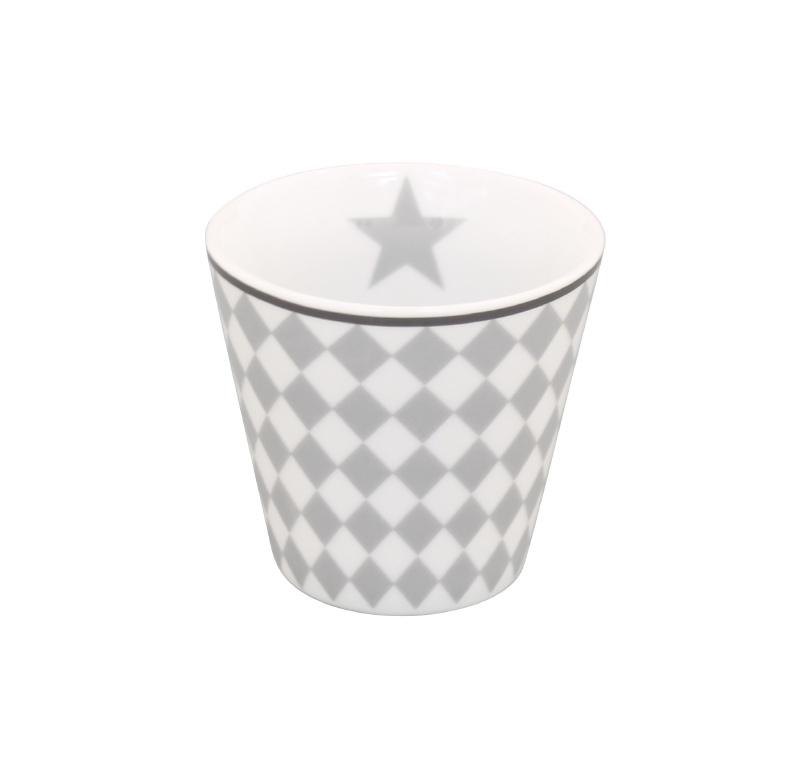 Espresso mug light grey harlekin