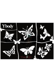 Ybody sjabloon butterflies